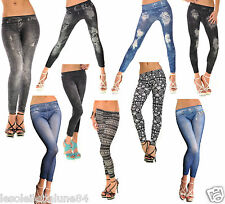 LOT DE 5 Legging Sexy jeggings stretch collant caleçon T.U 36 38 40 - revendeur