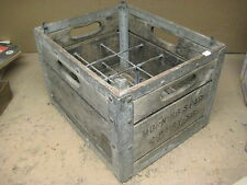 vintage antique wooden dairy bottle crate MORNING STAR, 1956
