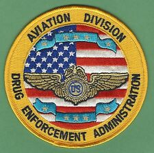 DEA DRUG ENFORCEMENT ADMINISTRATION AVIATION DIVISION POLICE PATCH
