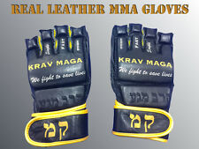 KRAV MAGA MMA GLOVES - BEST QUALITY - REAL LEATHER ! VERY RARE