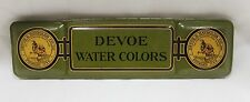 Vintage 1930's DEVOE & Raynolds Co. Inc. Water Colors Green Tin Box S
