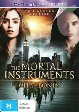 THE MORTAL INSTRUMENTS:City Of Bones-Region 4-New Sealed-DVD+Ultraviolet