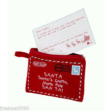 WAITING FOR SANTA FELT PURSE WITH LETTER TO FATHER CHRISTMAS XMAS GIFT PRESENT