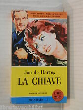LA CHIAVE Jan de Hartog Carlo Picchio Mondadori I libri del Pavone 1958 romanzo