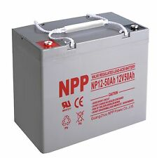 NPP 12V 50 Amp 12 Volt 50Ah 55Ah Deep Cycle UPS Rechargeable AGM Battery