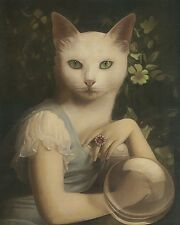 Stephen Mackey Unspeakable Fortune Fantasy Weird Animal Cat Print Poster 16x20