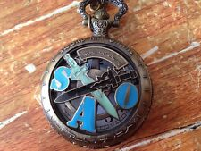 Anime Sword Art Online SAO Pocket Watch Chain Watch  Collection