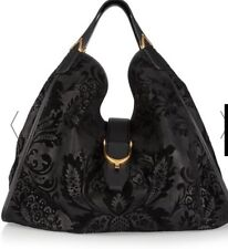 Authentic Gucci Flocked  Suede Hobo handbag Black / Very Rare