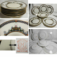 Set of 6 Noritake Morimura Moriage Salad Plates N2654 Swag Urn Bird Flowers