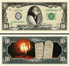 Moses ~ Ten Commandments Million Dollar Bill Collectable Fun Money Novelty Note