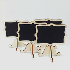 10pc Mini Wooden Clip Blackboard Message Boards Stand Labels Board Holder