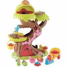 ELC Happyland Forest Fairy Dolls Treehouse Toy Set Kids Playset Fairies, Animals
