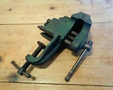 Vintage Small Clamp-On Bench Table Vise with Anvil