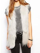 Unreal Fur Play Vest Waistcoat Grey New M L