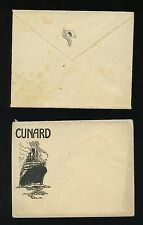 Lot of Two (2) Different Cunard Line Unused Stationary Envelopes
