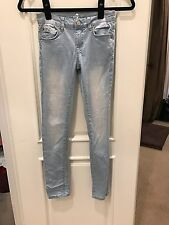 """7 FOR MANKIND GIRLS JEANS """"THE SKINNY"""" SIZE 10"""