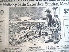 VINTAGE NEWSPAPER AD REAL ESTATE CROCKER HIGHLANDS LAKE SHORE OAKLAND CA 1920