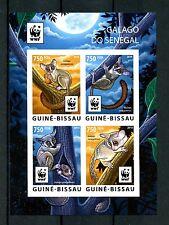 Guinea-Bissau 2015 MNH Senegal Galago WWF 4v Imperf M/S Bushbabies Stamps