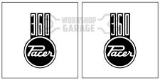 HEMI CHRYSLER VALIANT - Badge Style Stickers - 360 Pacer Standard  #5