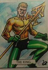 DC JLA Justice League  sketch card Fabian Quintero