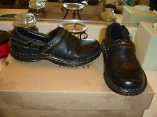 B.O.C. Born Concept Lina black LEATHER SHOE $105 6 Comfort Quality Nice