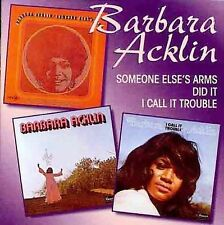 Barbara Acklin 3 on 1 CD *SEALED* Someone Else's Arms I Did It Call It Trouble