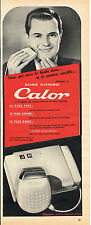 PUBLICITE ADVERTISING 124  1953  CALOR   rasoir  éléctrique