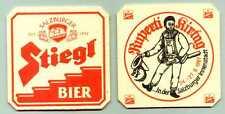 sehr schöner alter Bierdeckel Salzburger Stiegl Bier Ruperti Kirtag 1987       A