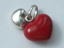 Genuine Links of London red double hearts charm