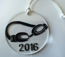 Acrylic Ornament Swimming Swim Team Goggles Freestyle Swimmer Butterfly Water