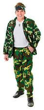 Para Hombre Camuflaje del ejército Fancy Dress Costume Pantalones Paintball Partido Traje Nuevo