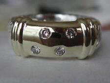 DAVID YURMAN 14/K GOLD,SS WIDE METRO DIAMOND RING