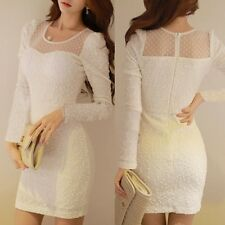 Hot Dotted Sequins Chest Pads Women's Hip-wrapped Solid Mini Dress Bodycon New S