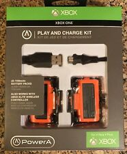 NEW PowerA Play and Charge Kit for Xbox One (1100mah)