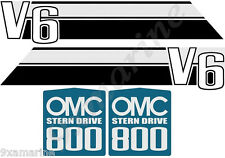 OMC 800 Stringer Stern Drive Decal Set