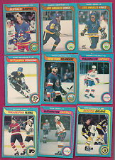 9 X DIFFERENT 1979-80 OPC NHL PLAYER EX++ OR BETTER CARD (WHIT GREEN SCHMAUTZ)