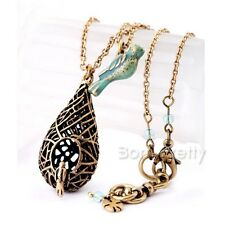 Double-layer Necklace Cintage Bird With House Necklace Hollow-out Nest Necklace