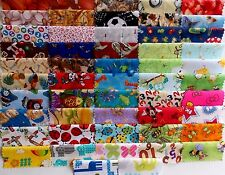 "I Spy 50 Piece Charm Pack 5"" Squares Quilt Fabric Premium Cotton Baby Children"
