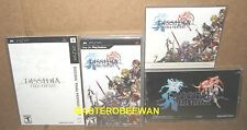PSP Final Fantasy Dissidia Black Label New + 2 Covers + OST Soundtrack+ Calendar