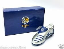 COLLECTIBLE LIMITED EDITION TIGER BEER SILVER SOCCER BOOT LIGHTER