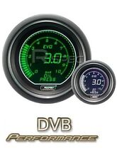 Prosport 52mm EVO Car Fuel Pressure Gauge BAR Green White LCD Digital Display