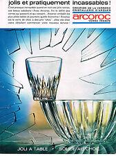 PUBLICITE ADVERTISING 014   1963   ARCOROC    verre trempé