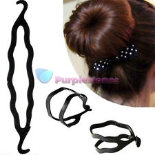 Black Plastic Magic Bun Hair Twist Braid Tool Holder Clip hair style maker