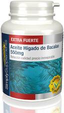 SimplySupplements Aceite Hígado de Bacalao 550mg  2x 180 Cápsulas (S402)