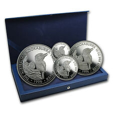 1996 Australia 4-Coin Silver Kookaburra Proof Set (No COA) - SKU #83836
