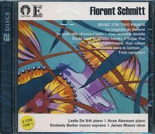 Florent Schmitt Music For Two Pianos CD NEW Anya Alexeyev Kimberly Barber