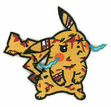 Battle Damaged Pikachu Patch Pokemon ASH Hipster Goku Dragon ball Z Anime Go App