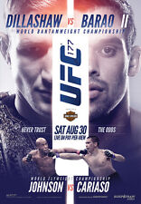UFC 177 Official Full-Sized Event Poster PHANTOM FIGHT TJ DILLASHAW vs BARAO II