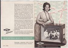 Prospekt RFT VEB RAFENA RADEBERG um 1962 RECORD 4/5 START 101 CLUB     ( 4394