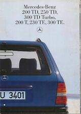 Mercedes Benz W124 Estate 1985-86 Original German Foldout Sales Brochure